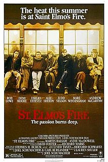 <i>St. Elmos Fire</i> (film) 1985 film by Joel Schumacher