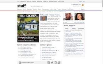 Stuff.co.nz - Image: Stuff.co.nz screen capture