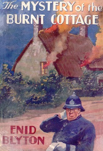 The Mystery of the Burnt Cottage - First edition cover