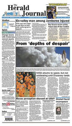 The Herald Journal - Image: The Herald Journal front page