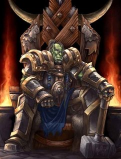 Thrall (<i>Warcraft</i>) Fictional character in the Warcraft universe