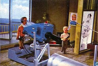 In a deleted scene, Alan and Brains direct Jeff's televised speech. Thunderbirds Deleted Scene.jpg