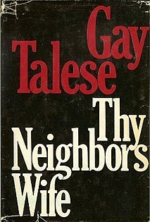 <i>Thy Neighbors Wife</i> (book) 1981 Gay Talese book