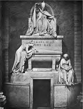 Antonio Canova - Image: Tomb of Pope Clement XIV Gregorovius