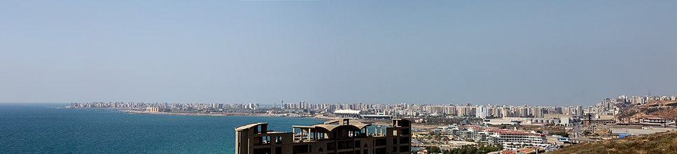 A panoramic view of modern Tripoli with its distinctive skyline