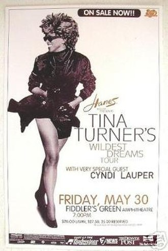 Wildest Dreams Tour - Promotional poster for Turner's 1997 tour
