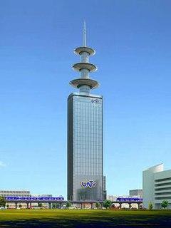 UNTV Broadcast Center Skyscraper in the Philippines