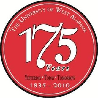 University of West Alabama - Logo representing the University's 175th anniversary