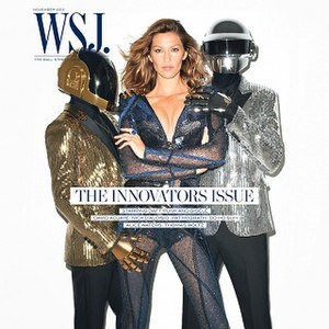 WSJ. - The November 2013 cover featuring Gisele Bundchen and Daft Punk won the Clio Award for top magazine cover of the year.