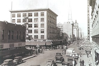 Downtown Phoenix - Washington St. and Central Avenue looking North