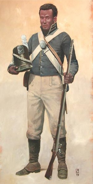 William Williams (soldier) - William Williams wearing a U.S. Army uniform during the War of 1812