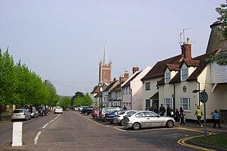 Bishops Stortford town in Hertfordshire, England
