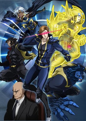 Marvel Anime - Cast of X-Men, Cyclops, Professor X, Wolverine, Storm, Armor, Beast