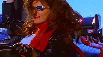 "You Win My Love - Shania in a race car for the ""You Win My Love"" video"