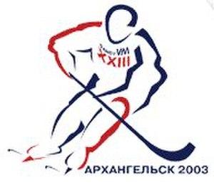 2003 Bandy World Championship - Image: 2003 Bandy World Championship logo
