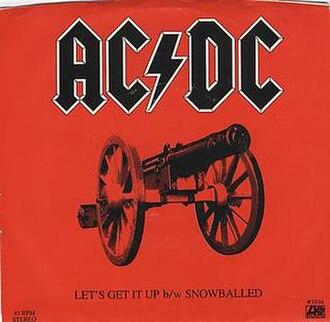 Let's Get It Up - Image: ACDC Let's Get It Up US 1982 Single