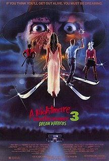 <i>A Nightmare on Elm Street 3: Dream Warriors</i> 1987 film by Wes Craven, Chuck Russell
