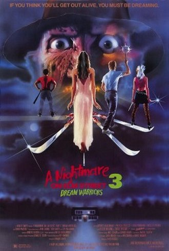 A Nightmare on Elm Street 3: Dream Warriors - Theatrical release poster by Matthew Peak