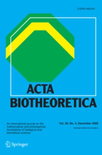 Acta Biotheoretica - Image: Acta Biotheoretica