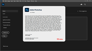A screenshot of Photoshop with a large block of text