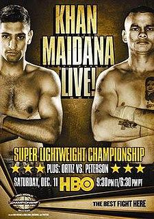 Amir Khan vs. Marcos Maidana Boxing competition