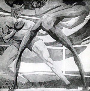 André Dunoyer de Segonzac - Image: André Dunoyer de Segonzac, 1911, Les Boxeurs (The Boxers), location unknown, presumed destroyed by the artist