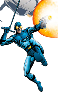 Ted Kord superhero who was originally published by Charlton Comics and later picked up by DC Comics