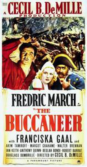 The Buccaneer (1938 film) - Theatrical release poster