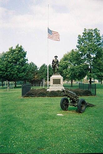 Battery Park (Burlington, Vermont) - Monument to American Civil War veteran General William W. Wells by J. Otto Schweizer.