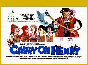 Carry On Henry - Original UK quad poster by Renato Fratini