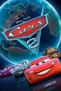 <i>Cars 2</i> 2011 American computer-animated action comedy spy film produced by Pixar Animation Studios