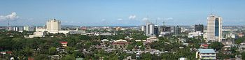The new skyline of cebu, as modern hotels, offices and malls replace old run down buildings.