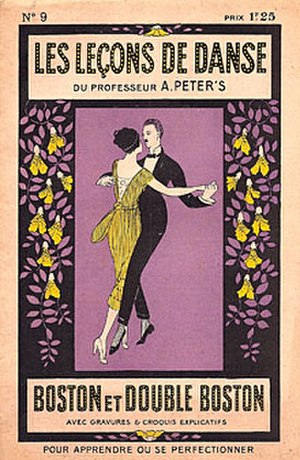 Cross-step waltz - The evolution of the foxtrot into the French Boston was recorded in dozens of Parisian dance manuals during the 1920s.