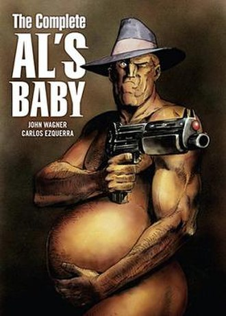 Al's Baby - Cover to The Complete Al's Baby Art by Carlos Ezquerra