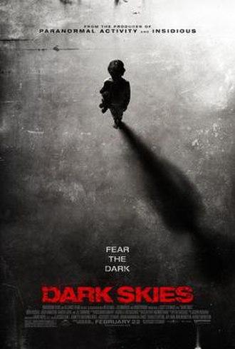 Dark Skies (film) - Theatrical release poster