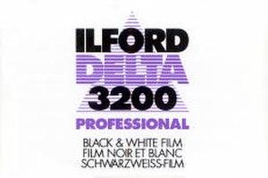 Ilford Delta - Image: Delta 3200 135 box front