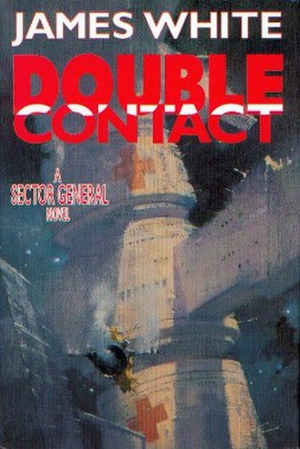 Double Contact - Cover of the first edition, published by Tor Books. Cover art by John Harris.