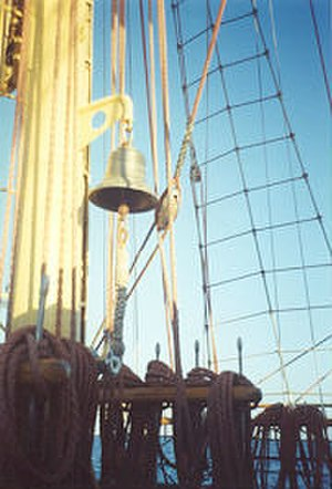 Naval tradition - Ship bell of ORP Iskra II - Polish Navy school tall ship