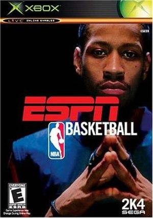 ESPN NBA Basketball (video game) - Xbox cover art featuring Allen Iverson