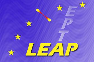 European Pulsar Timing Array - The LEAP logo.
