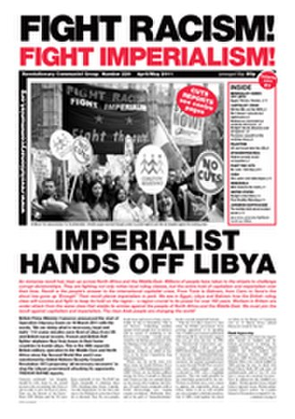 Revolutionary Communist Group (UK) - The April/May 2011 issue of FRFI, with a headline commenting critically on the 2011 military intervention in Libya.