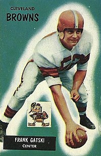 Frank Gatski football card, 1955
