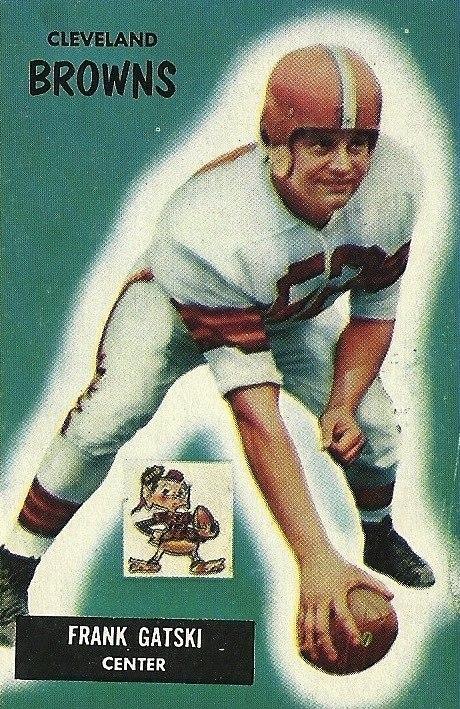 Frank Gatski football card, 1955