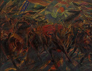 <i>The Funeral of the Anarchist Galli</i> painting by Carlo Carrà