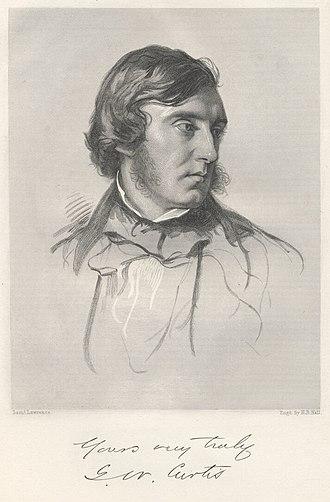 George William Curtis - George William Curtis in an 1854 portrait by Samuel Laurence