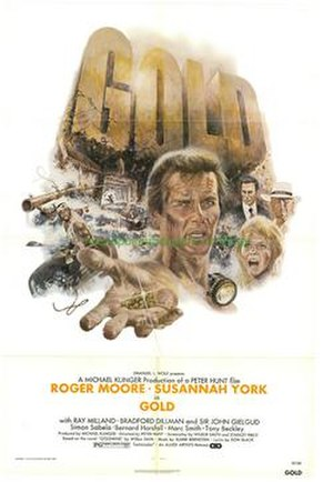 Gold (1974 film) - Theatrical release poster by Tom Jung