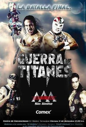 Guerra de Titanes (2009) - Official poster for the show