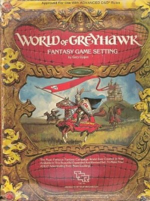 Greyhawk - The box cover for World of Greyhawk Fantasy Game Setting boxed set (TSR, 1983)