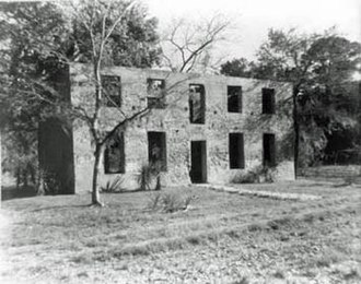 Jekyll Island - Major William Horton's tabby-structure home. Structure built in 1742; this image taken in 1927.