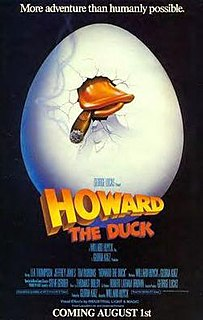 <i>Howard the Duck</i> (film) 1986 American science fiction comedy film directed by Willard Huyck